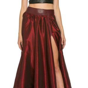 TOV Holy Skirts - Wine Maxi Skirt
